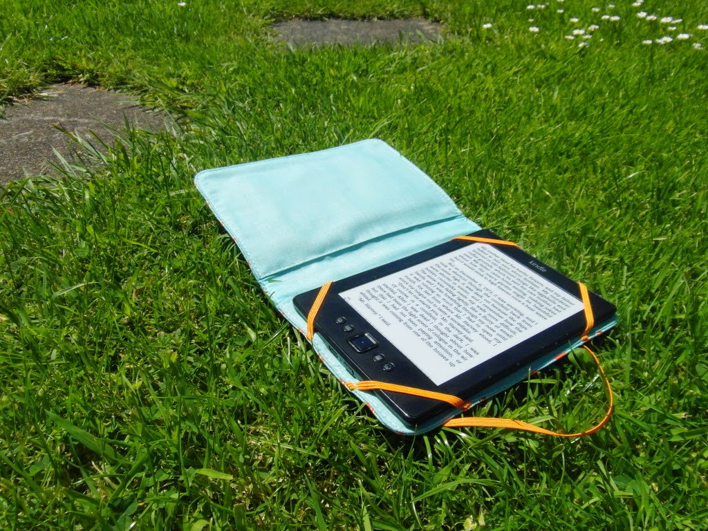 garden, read, kindle, summer