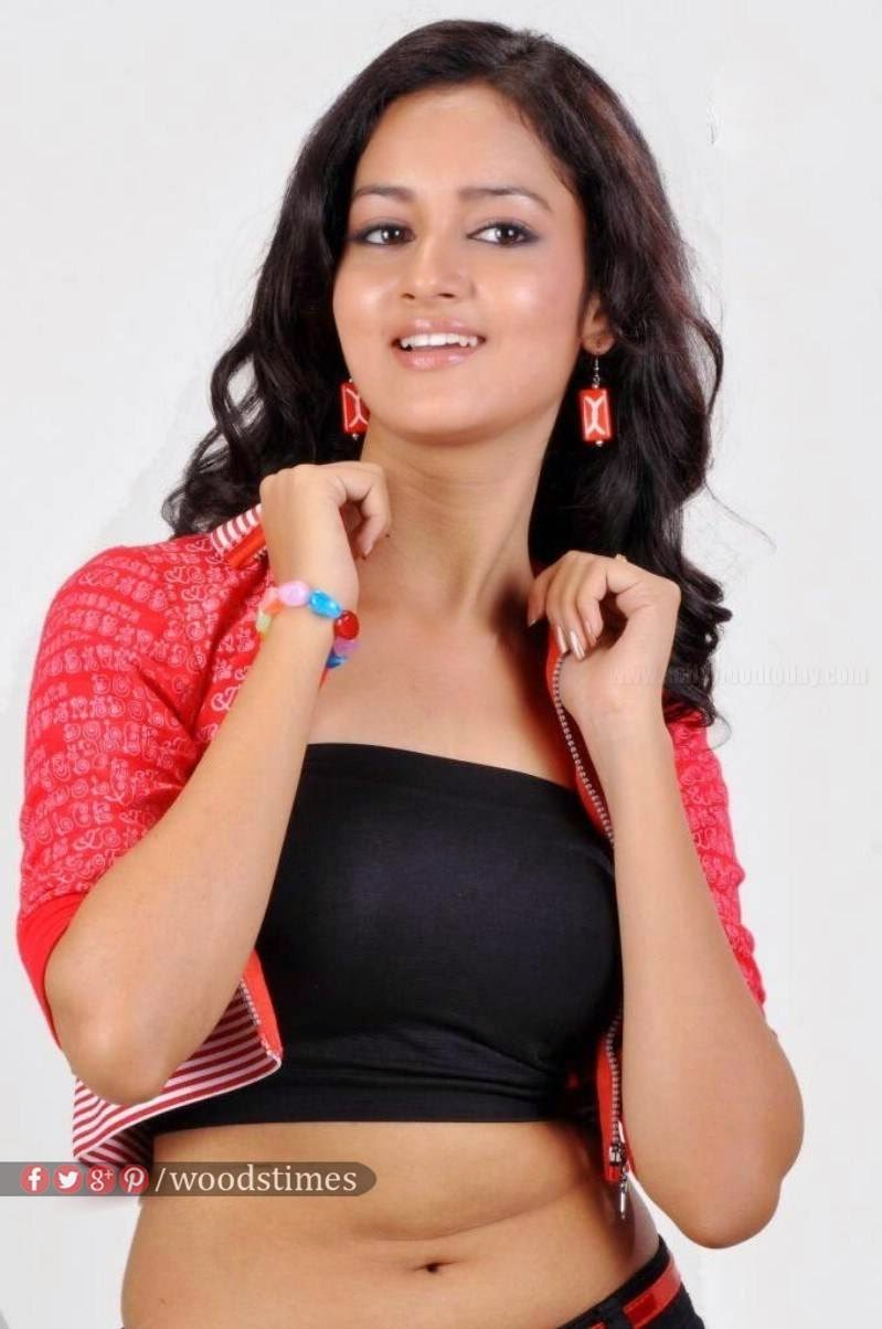 Actress Shanvi Latest Cute Hot Pink Top Dress Navel Show Spicy Photoshoot Gallery