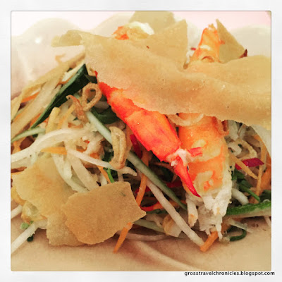 Shrimp Salad appetizer at Hoa Tuc, Saigon