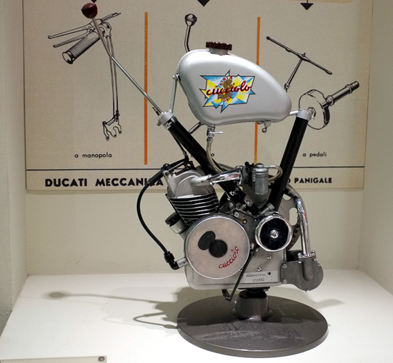Ducati Cucciolo engine at the Ducati Museum