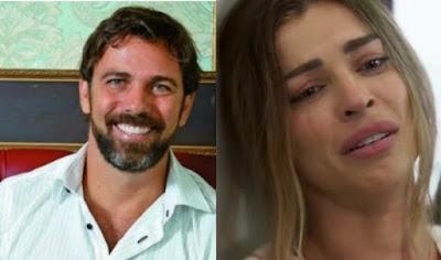 Paloma e Elias em cena da novela Bom Sucesso (Foto: Montagem)