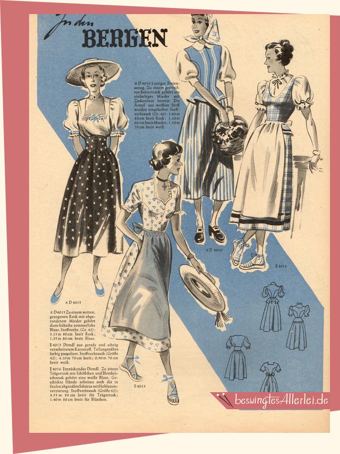 Praktikus Modenblatt für die Hausfrau 06/1949 || beswingtesallerlei.de