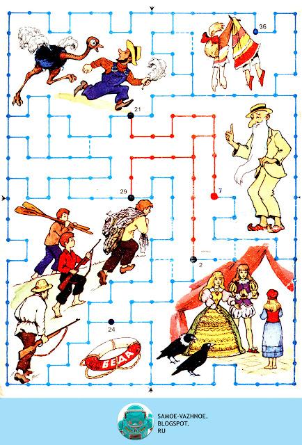 Детская настольная игра распечатать СССР. В стране приключений Раевский 1987 1989 игра.