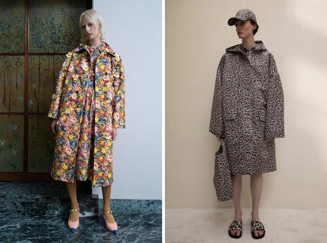 Платье и пальто с одинаковым принтом