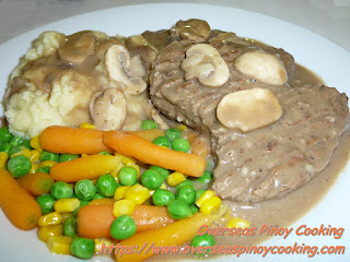 Salisbury Steak, Burger Steak with Mushroom Sauce Dish