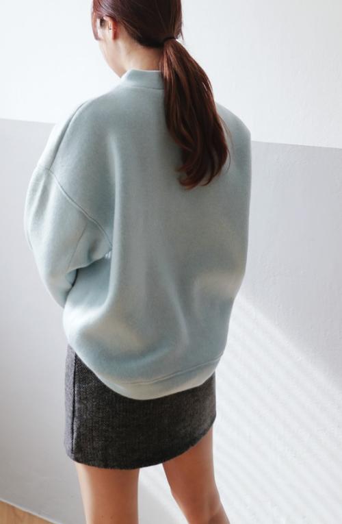 Mink Fur Detailed Cutout Neck T-Shirt