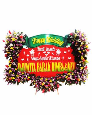 Bunga Papan Wedding PW4