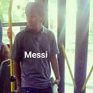 Parecidos de famosos en el transporte público messi