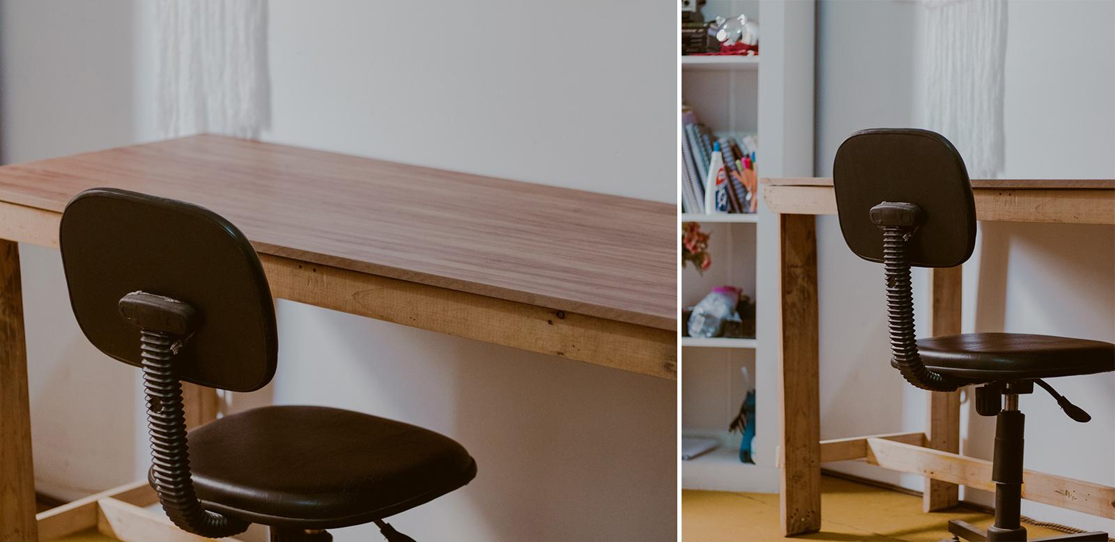 escrivaninha feita em casa