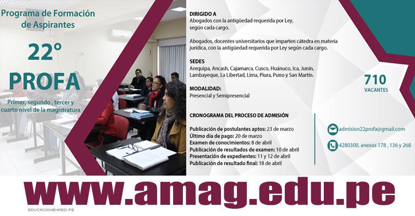 AMAG: Más de 3 mil aspirantes a magistrados rendirán examen de admisión (Resultados 10 Abril 2018) Academia de la Magistratura - www.amag.edu.pe