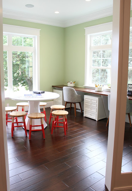 Home tour: Paint color + homework room