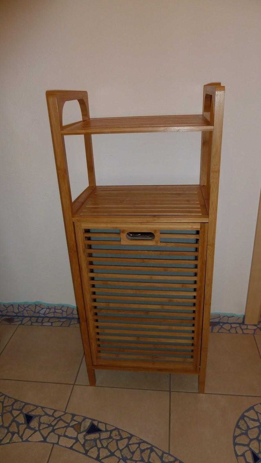 Produkttest: Relaxdays Badregal mit Wäschekorb aus Bambus HBT 95 x ...