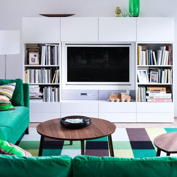 Decoraci n 15 composiciones de muebles tv con la serie - Ikea mueble salon tv ...