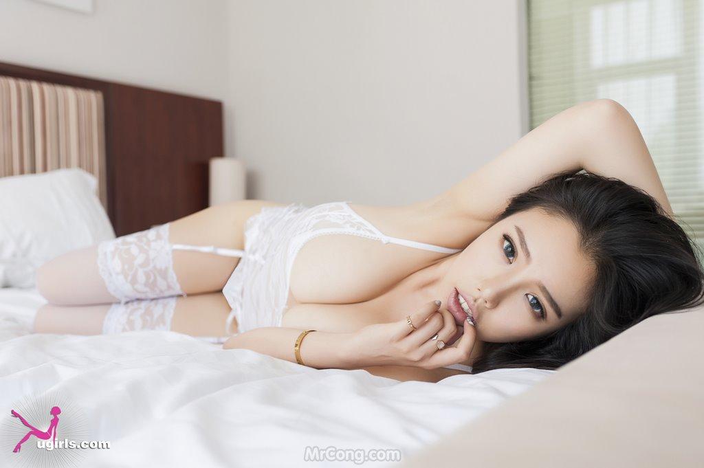Image MrCong.com-UGIRLS-035-Ni-Xiao-Yao-013 in post Mê mẩn ngắm vòng một nở nang của người đẹp Ni Xiao Yao (妮小妖) trong bộ ảnh UGIRLS 035