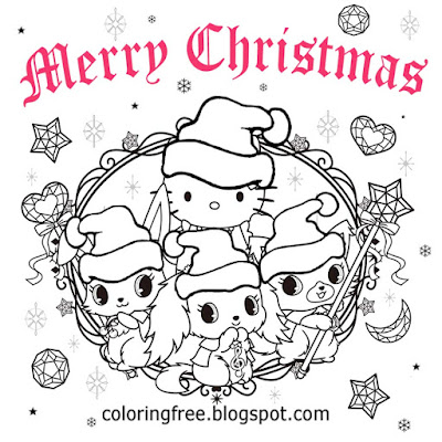Fun December activities cute winter pictures to color online easy Christmas drawing ideas for girls
