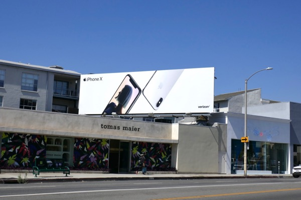 iPhone X June 2018 billboard