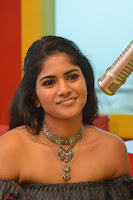 Mega Akash in a sleeveless Off Shoulder Cute Dress Stunnign beauty at Radio Mirchi Promoting Movie LIE ~ Celebrities Galleries 008.JPG
