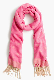 J. Crew Brushed Scarf with Polka Dots $13 (reg $65)