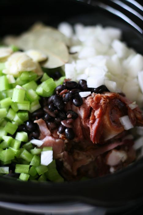 prep for Crockpot Black Bean Soup
