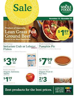 Whole Foods Flyer November 15 - 21, 2017