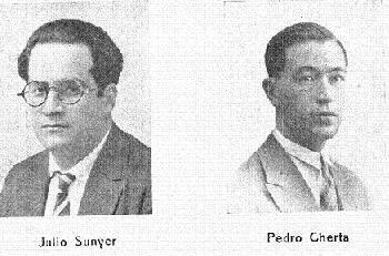 Foto 2 de los ajedrecistas participantes en el I Torneo Internacional de Ajedrez de Sitges 1934