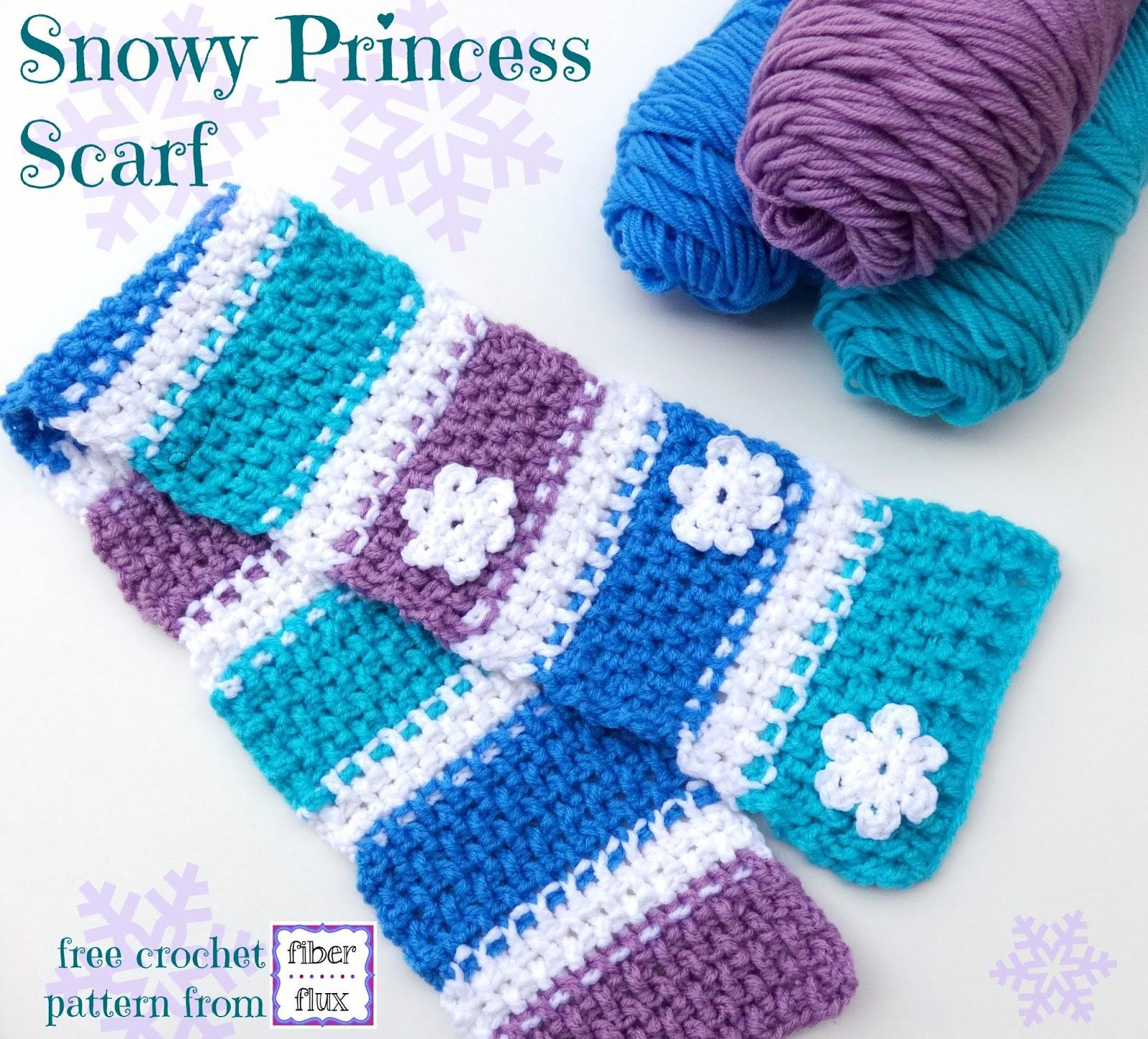 Fiber Flux Free Crochet Patternowy Princess Scarf