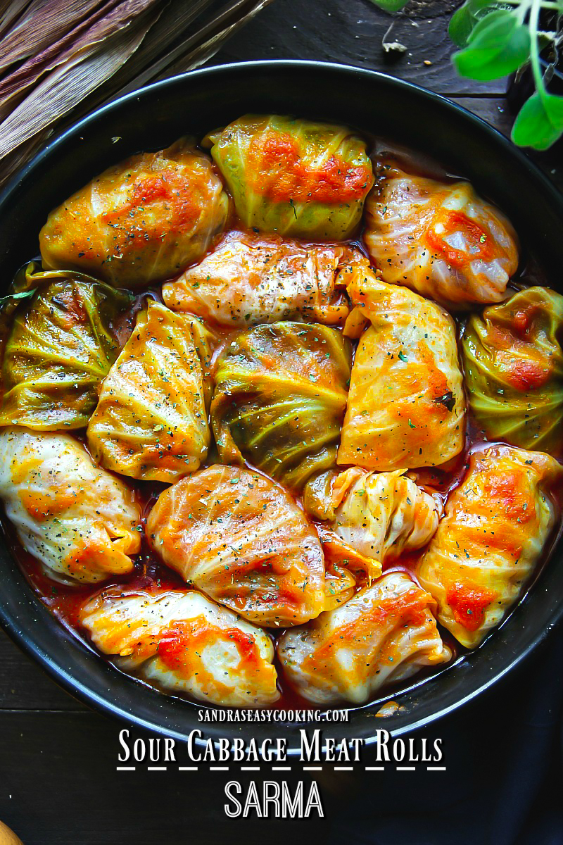 Sour Cabbage Meat Rolls (Sarma)