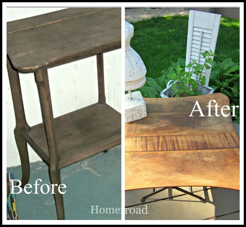 Beautiful Outdoor Side Table Makeover