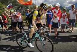 Steven Kruisjwijk con Oltre XR4 nella dodicesima tappa del Tour de France