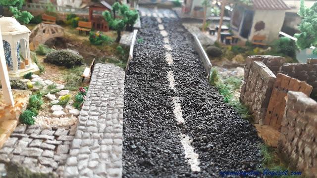Diorama asphalt road
