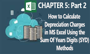 Depreciation charges calculation using Sum of Years Digits method