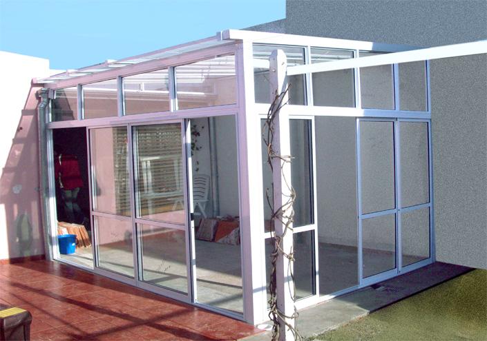 Carpinter a met lica en le n cerramientos en le n - Estructuras de aluminio para terrazas ...