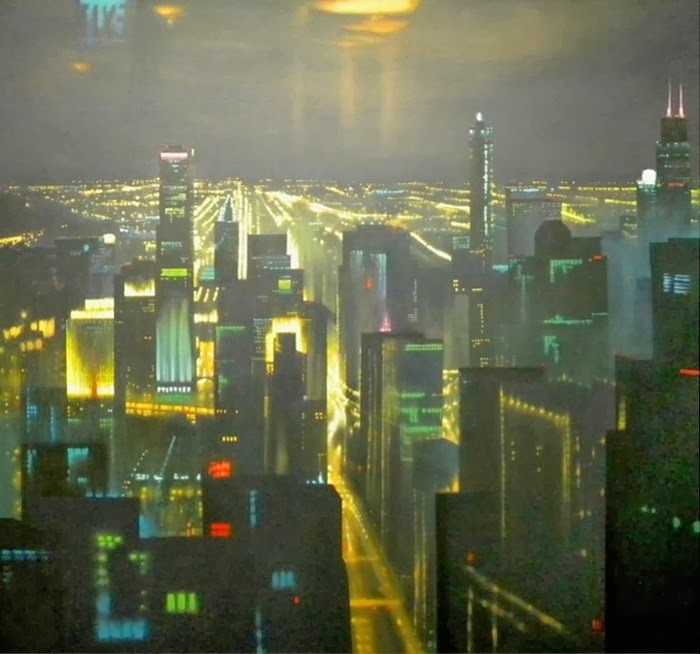 J.M. Brodrick - Night Sky Over Chicago