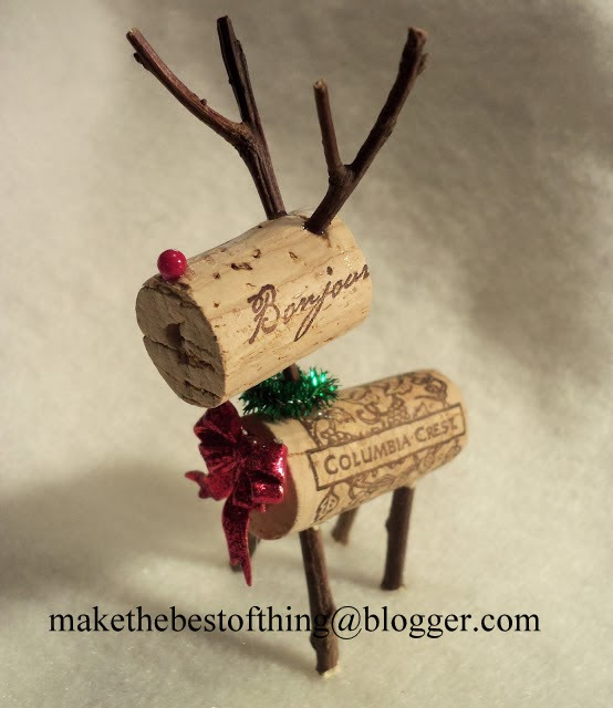 Things Made With Corks: Make The Best Of Things: Stinkin' Cute Wine Cork Reindeer DIY