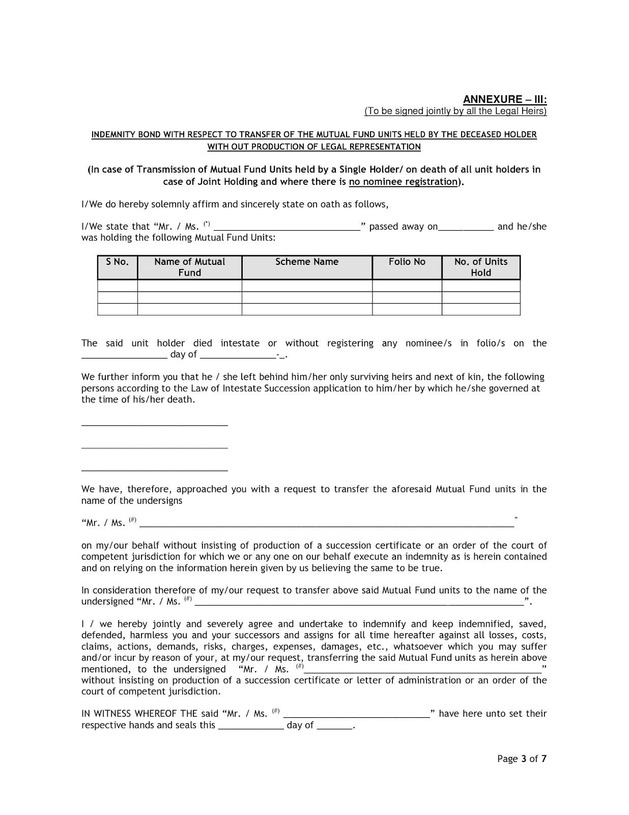 Self Declaration Letter Format Bank