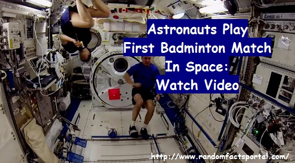 Astronauts Play First Badminton Match In Space: Watch Video