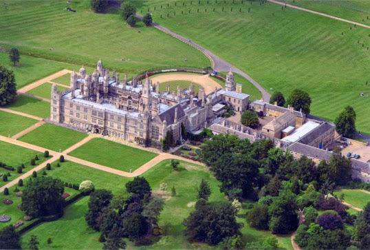Burghley House - vista aérea Fachada Sul