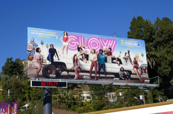 GLOW S2 Golden Globe SAG FYC billboard