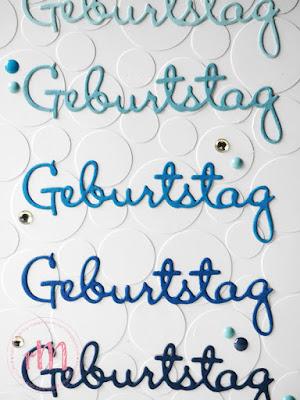 Stampin' Up! rosa Mädchen Kulmbach: Geburtstagskarte in der Faux Embossing Technik mit Punkten und Schön geschrieben