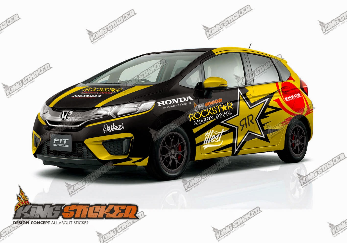 CUTTING STICKER HONDA JAZZ | King Sticker bali
