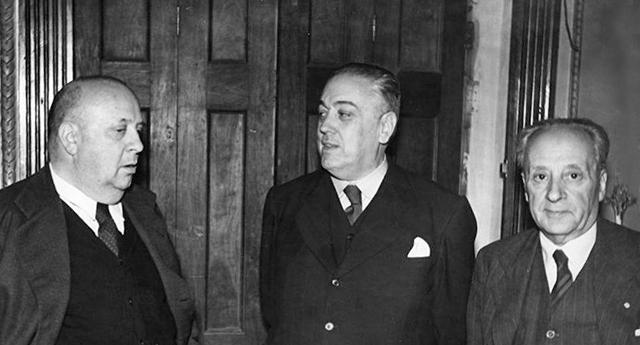 Indalecio Prieto, Martínez Barrio y Álvaro de Albornoz