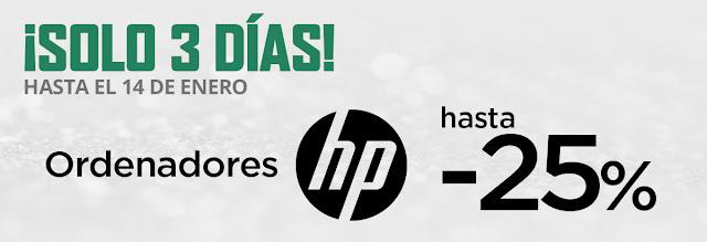 Top 5 ofertas promoción Hasta -25% en ordenadores HP de El Corte Inglés