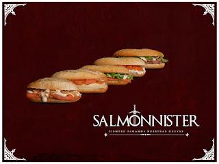 montaditos de salmón Juego de Tronos