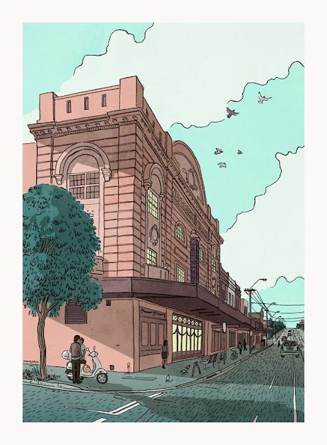 drawing of the westgarth cinema