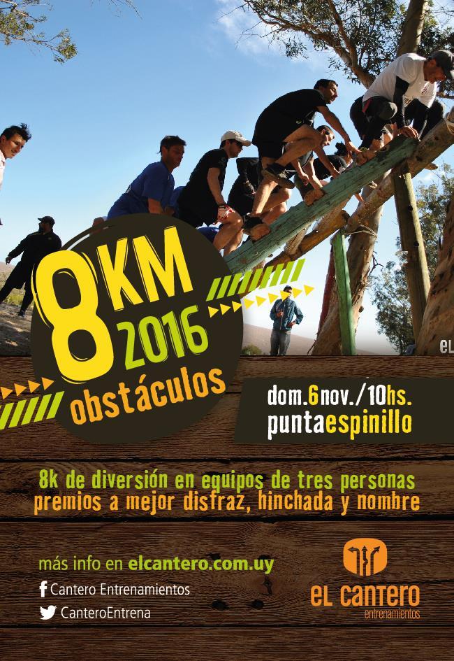 Info deportes uruguay 8k obst culos 6 11 2016 for Inscripciones jardin 2016 uruguay