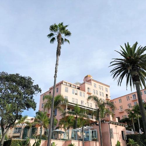 Millennial pink hotel - La Valencia Hotel La Jolla San Diego CA