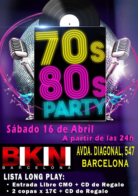 Flyer 70s 80s Party en Sala Bikini