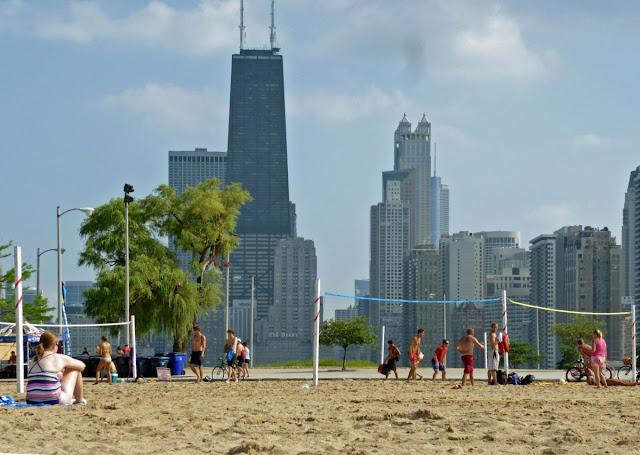 Pantai North Avenue di Chicago, Illinois
