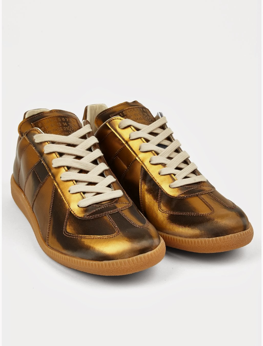 Going For The Gold: Maison Martin Margiela 22 Gold Replica Sneaker | SHOEOGRAPHY