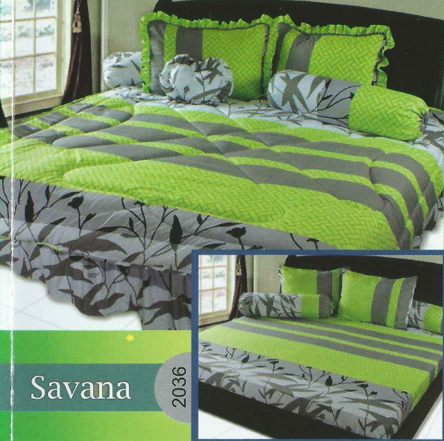 California Premium Sprei Dan Bed Cover Savana